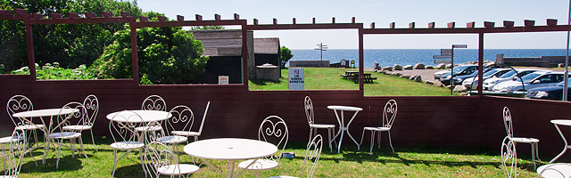 Café Smyge - Smygehuk, Smygehamn, Skåne - uteservering och sydligaste udden
